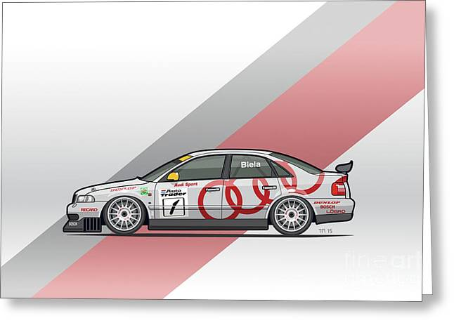 Audi A4 Quattro B5 Btcc Super Touring Greeting Card by Monkey Crisis On Mars