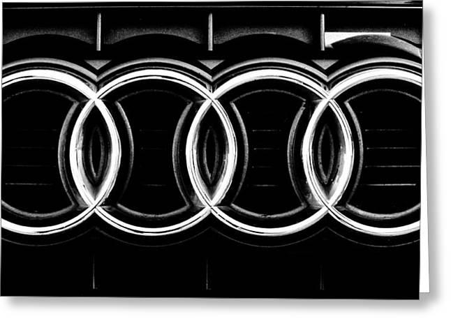 Audi Logo Greeting Card by Andrea Mazzocchetti