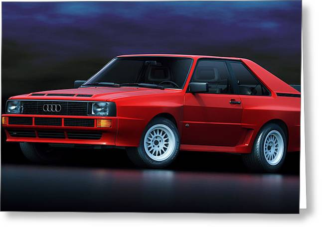 Stylish Car Greeting Cards - Audi Sport Quattro Greeting Card by Marc Orphanos