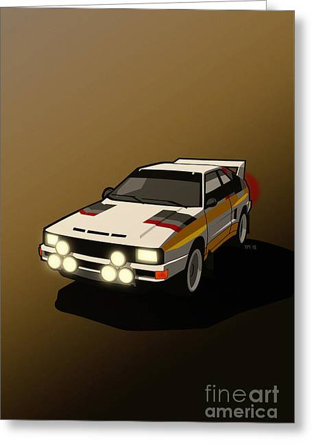 Audi Sport Quattro Ur-quattro Rally Poster Greeting Card by Monkey Crisis On Mars