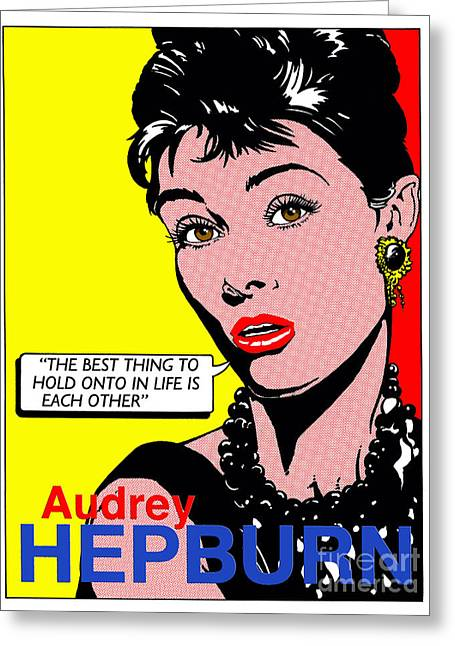 Audrey Hepburn Greeting Card by John Reilly