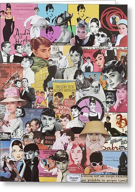 Audrey Hepburn Greeting Card by Marijo Communier