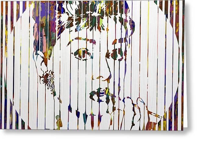 Chromatic Paintings Greeting Cards - Audrey Hepburn Greeting Card by Sean Ward