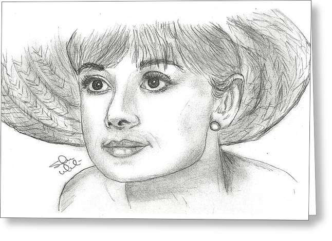 Recently Sold -  - Steven White Greeting Cards - Audrey Hepburn Smile Greeting Card by Steven White