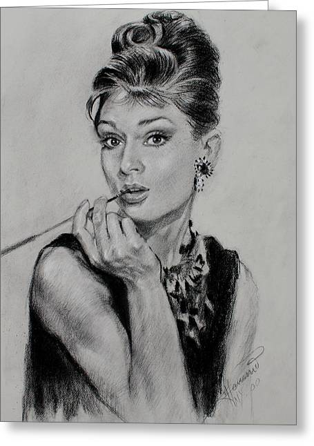 Audrey Hepburn Greeting Card by Ylli Haruni