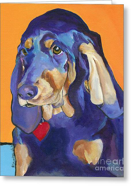 Pat Saunders-white Greeting Cards - Augie Greeting Card by Pat Saunders-White