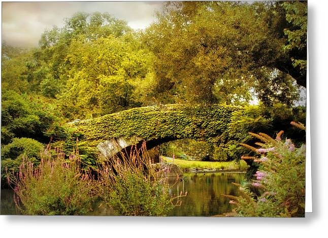 August At Gapstow Bridge Greeting Card by Jessica Jenney