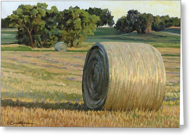 August Bales Greeting Card by Bruce Morrison