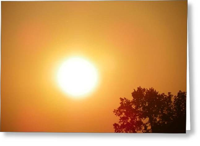 Glow Pyrography Greeting Cards - August Sunset In Washington Greeting Card by Laurie Kidd