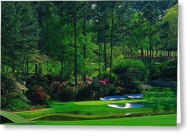 Snead Greeting Cards - Augusta National GC - 12th Hole - Golden Bell  Greeting Card by Michael Graham