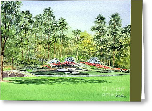 Augusta National Golf Greeting Cards - Augusta National Golf Course Greeting Card by Bill Holkham
