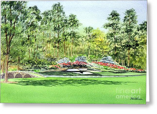 Amen Greeting Cards - Augusta National Golf Course Greeting Card by Bill Holkham