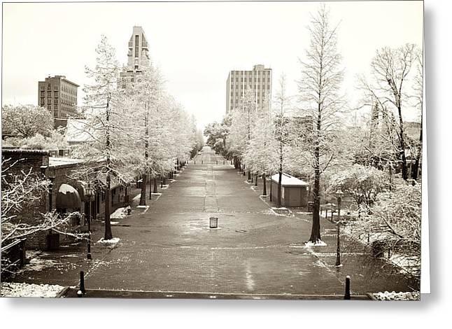 Riverwalk Greeting Cards - Augusta Snow Line Greeting Card by Patrick Biestman