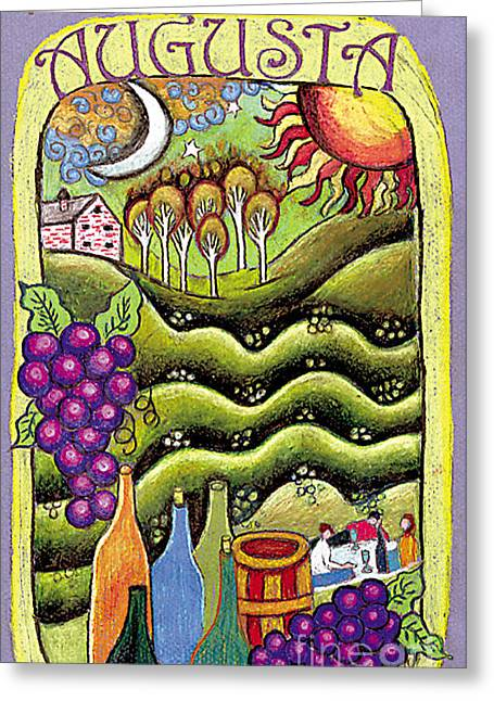 Augusta Winery Poster Greeting Card by Genevieve Esson