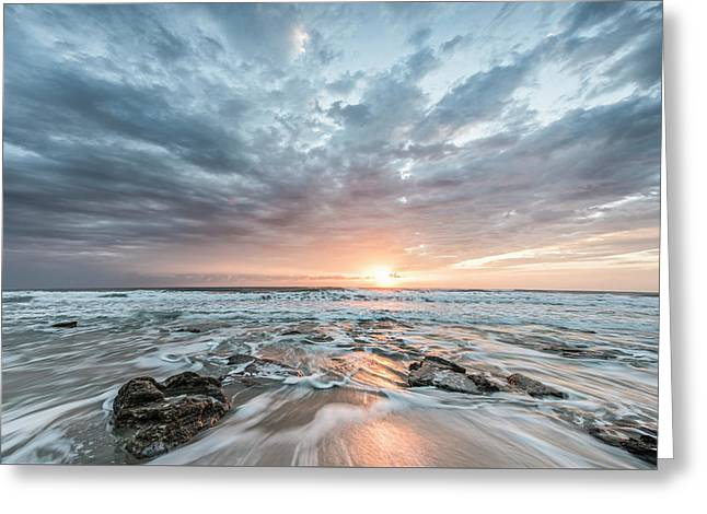 Augustine Sunrise Greeting Card by Jon Glaser