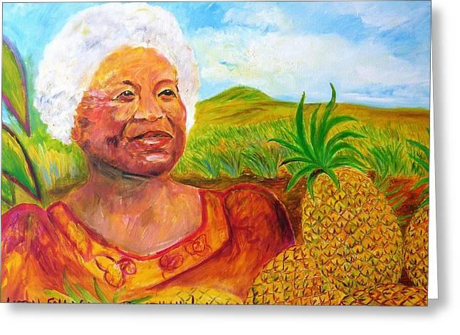 Recently Sold -  - Liberation Greeting Cards - Aunty Ruby Greeting Card by Tamara Tavernier