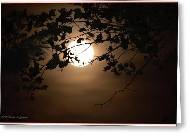 Print Photographs Greeting Cards - Aura of Full Moon Greeting Card by Sonali Gangane