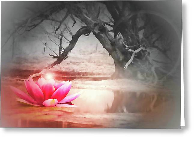 Aura of Life  Greeting Card by Cathy  Beharriell