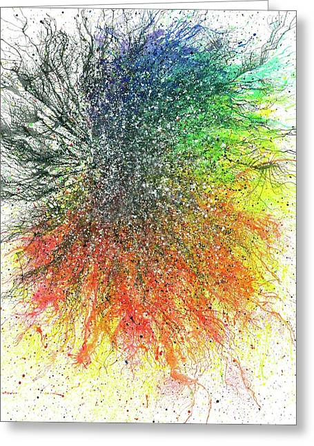 Aura Of The Starseeds #696 Greeting Card by Rainbow Artist Orlando L aka Kevin Orlando Lau