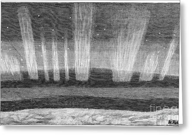 Aurora Borealis, 19th Century Greeting Card by Spl