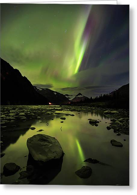 Aurora South Greeting Card by Ed Boudreau