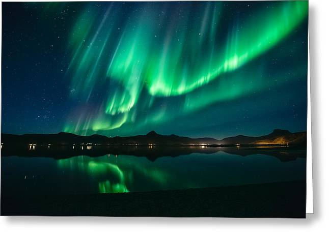 Aurora Surprise Greeting Card by Tor-Ivar Naess