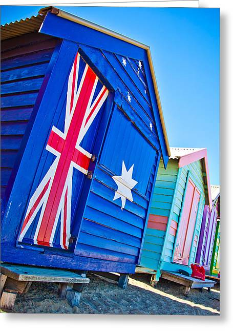 Aussie Beach Shack Greeting Card by Az Jackson