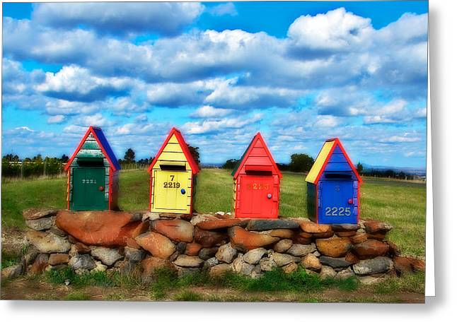 Lanscape Greeting Cards - Aussie Mail Box Greeting Card by Kathryn Potempski