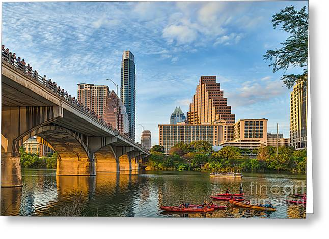 Austin. Bats Greeting Cards - Austin Bat Watch Greeting Card by Tod and Cynthia Grubbs