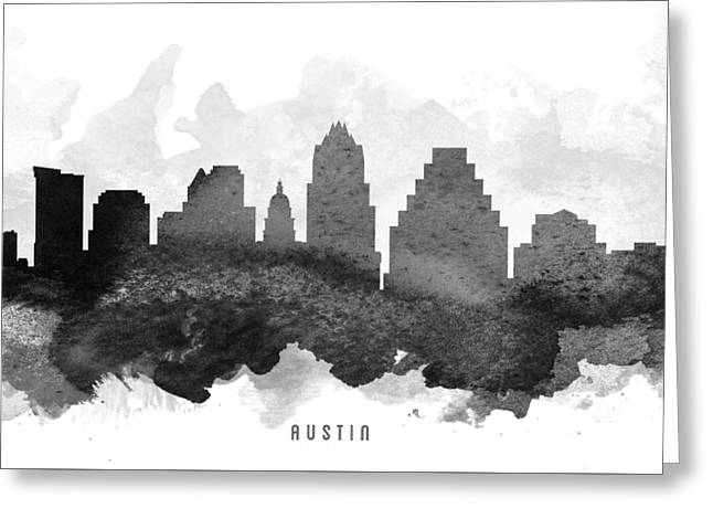 Austin Cityscape 11 Greeting Card by Aged Pixel
