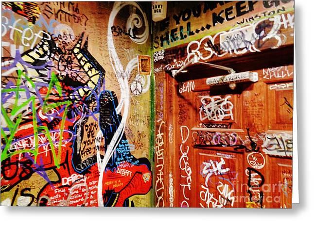Austin Graffiti One Greeting Card by Chuck Taylor