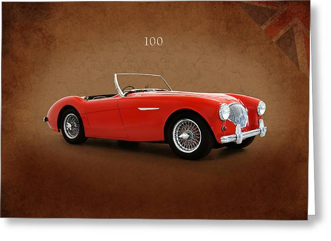 100 Greeting Cards - Austin Healey 100 1955 Greeting Card by Mark Rogan
