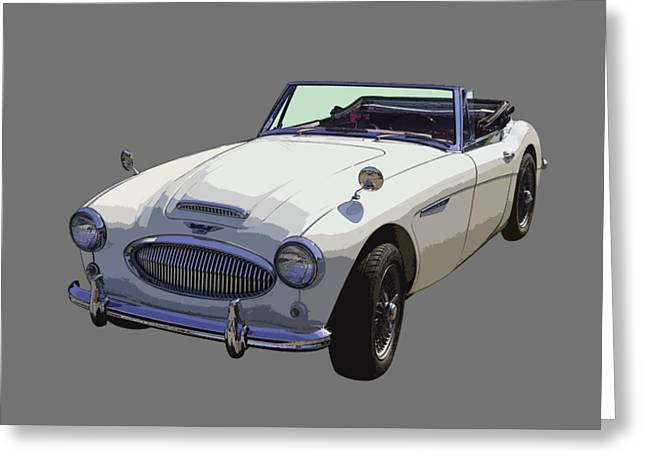 Austin Powers Greeting Cards - Austin Healey 300 Classic Convertible Sportscar  Greeting Card by Keith Webber Jr