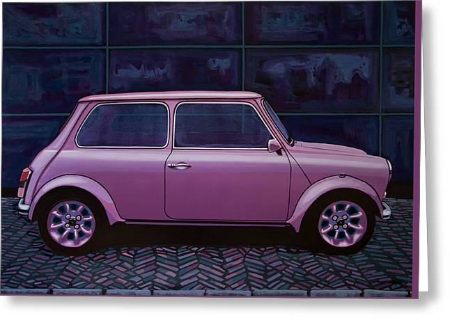 Austin Mini Cooper 1964 Painting Greeting Card by Paul Meijering