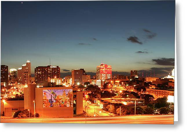 Austin. Bats Greeting Cards - Austin Night Greeting Card by Andrew Nourse