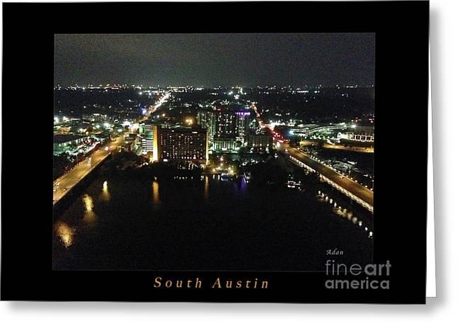 Austin Nights South Austin Greeting Card by Felipe Adan Lerma