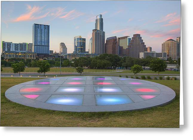 Downtown Austin Greeting Cards - Austin Texas Skyline Evening 5 Greeting Card by Rob Greebon