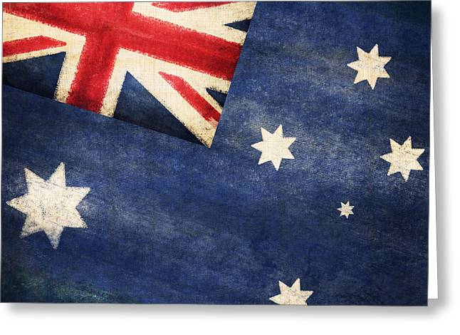 Australia  flag Greeting Card by Setsiri Silapasuwanchai