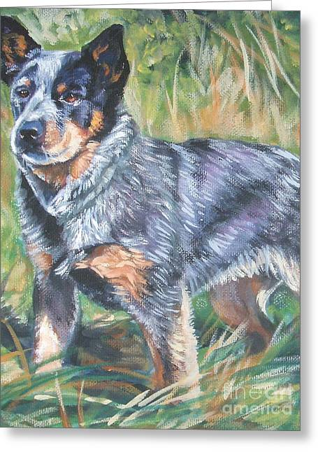 Australian Cattle Dog Greeting Cards - Australian Cattle Dog 1 Greeting Card by Lee Ann Shepard