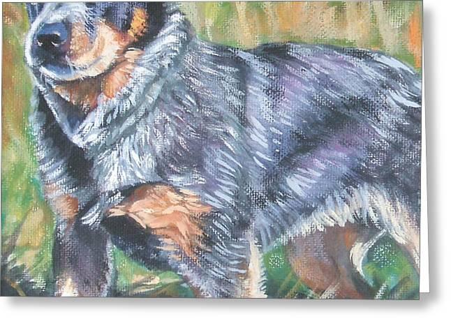 Australian Cattle Dog 1 Greeting Card by Lee Ann Shepard