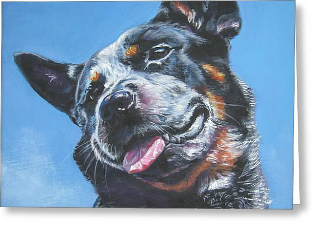 Australian Cattle Dog 2 Greeting Card by Lee Ann Shepard