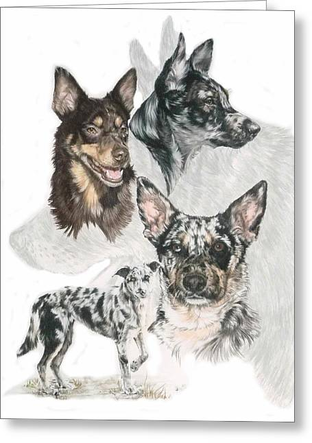 Working Dog Greeting Cards - Australian Koolie w/Ghost Greeting Card by Barbara Keith