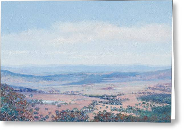 Lounge Paintings Greeting Cards - Australian Landscape - Mt Tamborine Greeting Card by Jan Matson