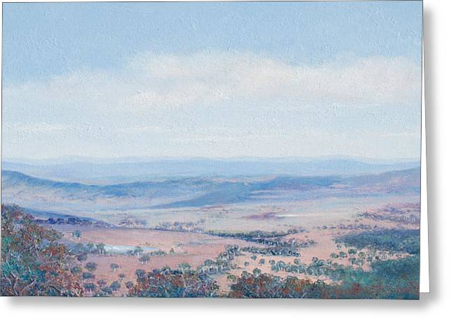 Lounge Paintings Greeting Cards - Australian Landscape - Mt Tamborine Greeting Card by Jan Matson