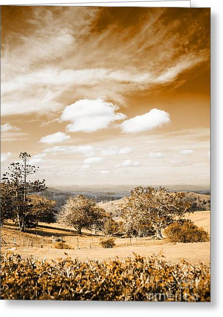 Australian Landscape Photo Of Maleny Hinterland Greeting Card by Jorgo Photography - Wall Art Gallery