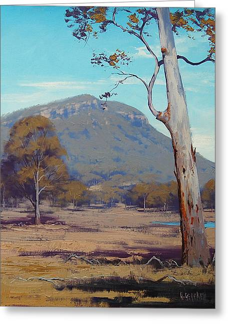 Beautiful Creek Paintings Greeting Cards - Australian Summer Hartley Greeting Card by Graham Gercken