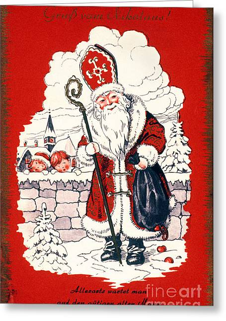 Nicholas Greeting Cards - Austrian Christmas Card Greeting Card by Granger