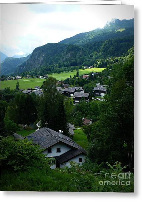 Carol Groenen Digital Art Greeting Cards - Austrian Landscape Greeting Card by Carol Groenen
