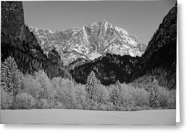 Snow-covered Landscape Photographs Greeting Cards - Austrian Winter Wonderland Greeting Card by Frank Josef