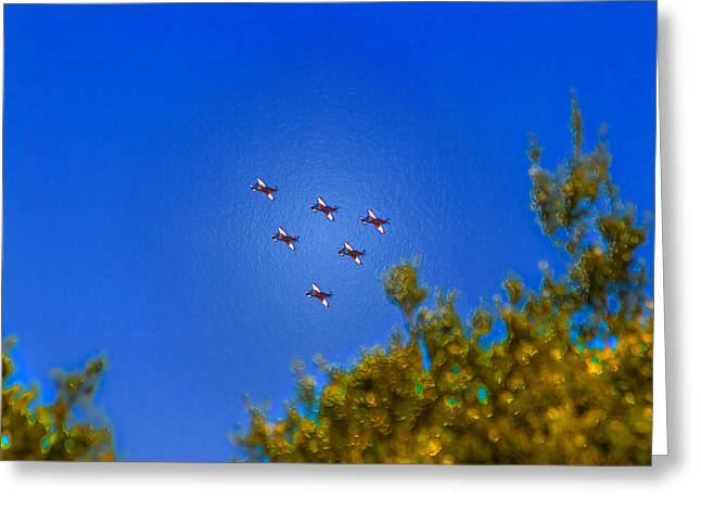 Royal Australian Navy Greeting Cards - Australian Roulettes Formation Over North Head Sydney Greeting Card by Miroslava Jurcik